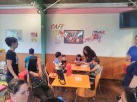 2階のカフェでお誕生日会